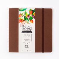 Sketchbook Malevich pentru acuarela Waterfall Natura, textura fina, cofenii, 200 gm, 19x19, 20 foi