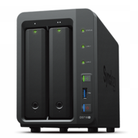"""Synology DiskStation DS718+, 3.5"""" or 2.5"""" SATA3/SSD CPU 2.3GHz Ram 2GB USB3.0"""