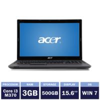 "Ноутбук Acer Aspire 5733 Gray(15,6"" | Intel Core i3-M370 | 3GB RAM | 500GB HDD | Windows 7)"