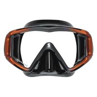 Маска для дайвинга Scubapro Crystal vu mask black/orange 24.855.810