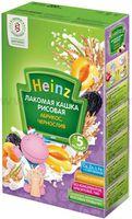 Heinz Лакомая кашка рисовая  абрикос, чернослив (5m+)
