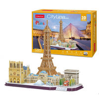 CubicFun пазл  3 D City Line Paris