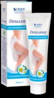 Cremă depilatoare, SOLVEX, 100 ml., pentru piele sensibilă, cu extract de mușețel