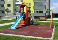 Детская площадка с качелей двойной