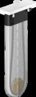 sBox Secțiune exterioară cu rozetă dreptunghiulară, alb mat