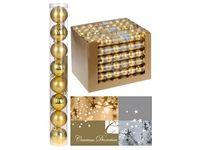 Набор шаров 8X50mm, золотые (мат/глянц), в тубе