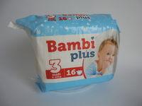 Детские подгузники BAMBI PLUS midi 16 piecies (5-10kg)