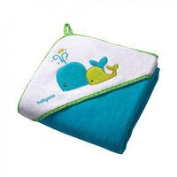 Полотенце детское BabyOno велюровое с капюшоном, Blue