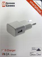 Зарядное устройство сетевое Screen Geeks USB 2A 10 Watt, alb