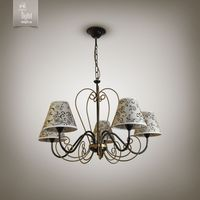 купить N&B Light Люстра Грация new 10355-1 черный/золотой лак в Кишинёве