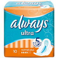 Always прокладки Ultra Normal, 10 шт.