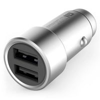 "Xiaomi ""Mi Car Charger"" , Silver, 2 x USB charger"