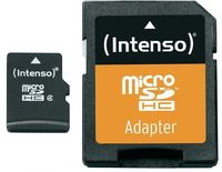 Флэш карта памяти Intenso Micro SD 16 GB + SD Adapter, Class 4