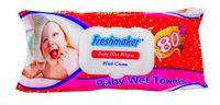 Салфетки влажные Freshmaker Baby 80шт. с крышкой