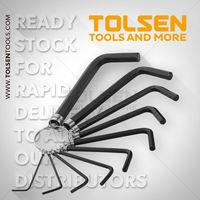 Ключи шестигранные 1.5-10mm набор 10 шт Tolsen