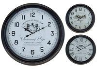 Часы настенные круглые D63cm, H7cm, металл