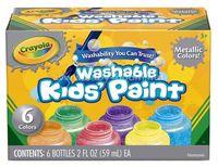 Crayola 54-5000 Краски цвета металлик (6 цв.)