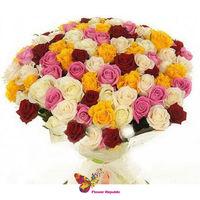 """купить Букет из разноцветных роз  """"ECUADOR"""" 60-70CM в Кишинёве"""