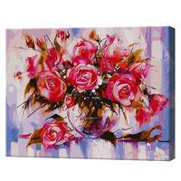 GX9898 Trandafirii roz Pictură pe numere 40x50 cm