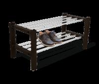 Полка для обуви   венге/алюм.металл ПЛТ175