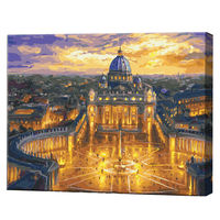Vaticanul de seară, 40х50 cm, pictură pe numere Articol: GX23730