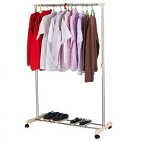 купить Напольная вешалка для одежды из нержавеющей стали 840х430х(1000-1600) мм в Кишинёве