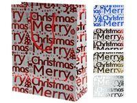 """купить Пакет подарочный """"Merry Christmas"""" 23X18X8cm голуб., крас., в Кишинёве"""