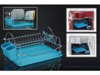 купить Сушилка для посуды с поддоном 39X32.5X21cm,нерж/пластик в Кишинёве