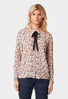 Блуза TOM TAILOR Бежевый с принтом 1014121