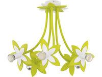 Светильник FLOWERS зел 5л сер-коричн 6901