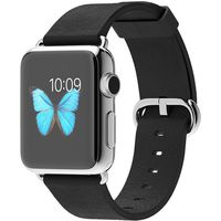 Apple Watch 38mm Stainless Steel Case Modern Buckle Black
