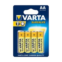 Батарейки Varta AA Superlife 4 pcs/blist Zinc Carbon, 2006 101 414