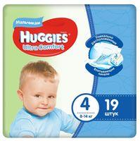 Подгузники для мальчиков Huggies Ultra Comfort Small 4 (8-14 кг), 19 шт.