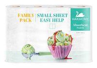 Prosoape hârtie Harmony Absorbent Practik Family Pack 2 str. 11m*4