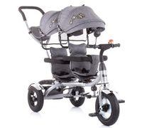 Трицикл для близнецов Chipolino 2PLAY TRK2P0204GY серый