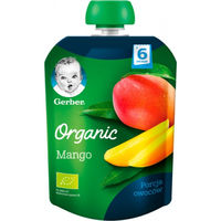Gerber piure Organic din mango 6+ luni, 90 gr