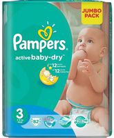 Pampers Active Baby Midi 3 ( 4-9 кг.) 82 шт.