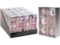Набор шаров 6X80mm, розовые, в коробке