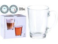 купить Набор чашек стеклянных 4шт 320ml, D8cm, H11cm в Кишинёве