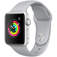 Apple Watch Series 3, 42mm, Silver Aluminium Case, Sport Band, Fog MQL02GKA