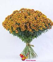 купить Хризантема кустовая оранжевая поштучно в Кишинёве