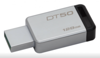 128 ГБ USB 3.1 Флеш-накопитель Kingston DataTraveler 50, Black/Silver (DT50/128GB)