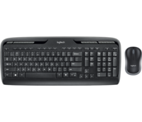 Wireless Keyboard & Mouse Logitech MK330, Multimedia, Low-profile, Quiet typing, 2xAAA/1xAA, Black