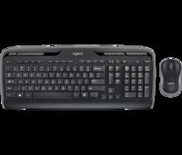 Wireless Keyboard & Mouse Logitech MK330, Multimedia, Low-profile, Quiet typing, 2xAAA/1xAA, Black