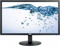 "21.5"" AOC ""e2280Swhn"", Black (1920x1080, 5ms, 200cd, LED20M:1) (21.5"" TN : LED, 1920x1080 Full-HD, 0.248mm, 5 ms, 200 cd/m², DCR 20 Mln:1 (700:1), 90°/65° @C/R>10, Analog D-Sub+ HDMI, Built-in PSU, Fixed Stand (Tilt -5/+23°), VESA Mount 100x100, Black)"