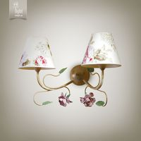 N&B Light Бра Брюссель 9502-1 крем/зеленый/розовый