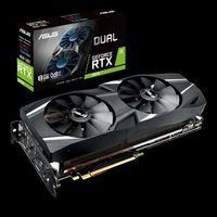 ASUS DUAL-RTX2070-8G, GeForce RTX™ 2070 8Gb GDDR6, 256-bit