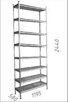 купить Стеллаж оцинкованный металлический Gama Box  1195Wx580Dx2440 Hмм, 8 полки/МРВ в Кишинёве