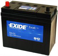 **АКБ Exide  EXCELL 12V  45Ah  330EN  237x127x227 +/-, EB455