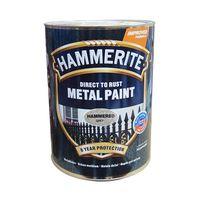 Hammerite Краска для металла Серая молотковая 0.75л
